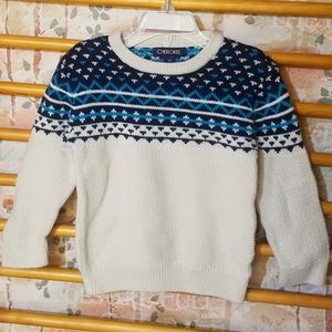 Boys 3T Fair Isle Nordic Sweater - Holiday Dressy